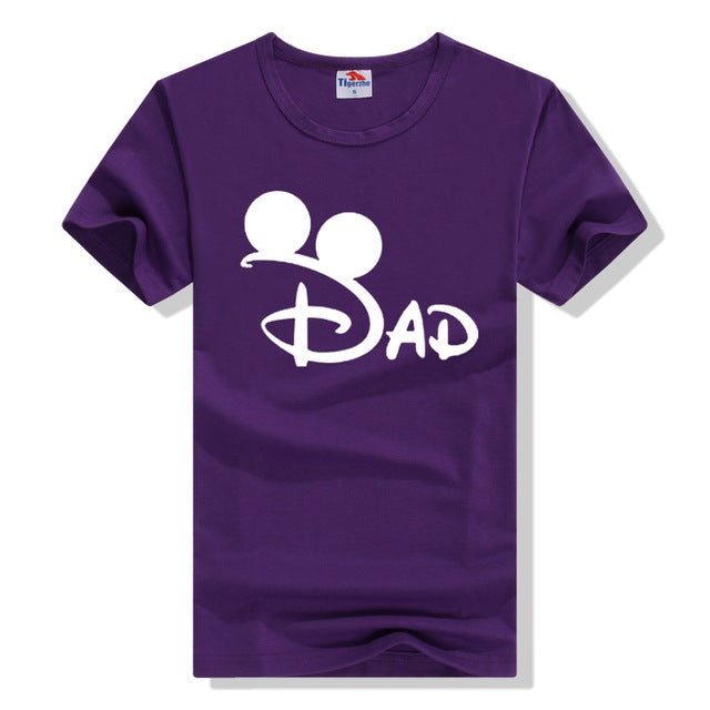 Men's Print DAD O-Neck T-Shirt