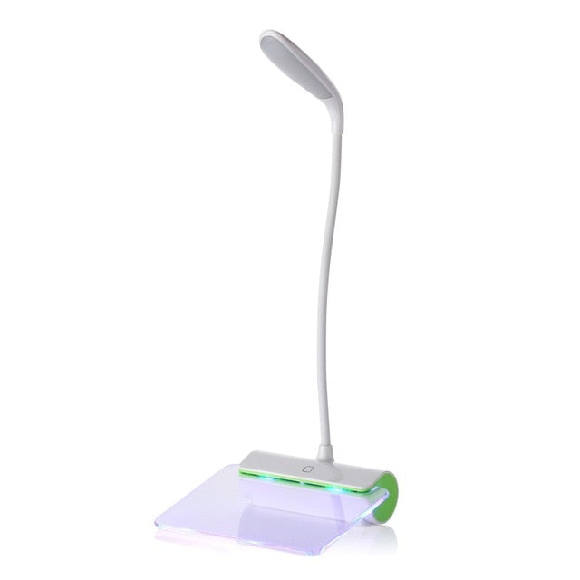 Rechargeable Touch Switch LED Desk Lamp with Light-Up Message Board
