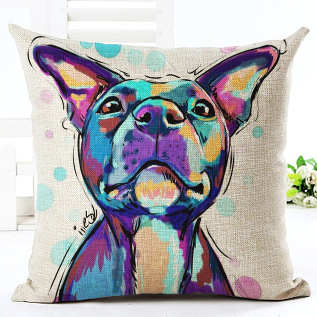 Animal cushion cover Dog for children Decorative Cushion Covers for Sofa Throw Pillow Car Chair Home Decor Pillow Case almofadas