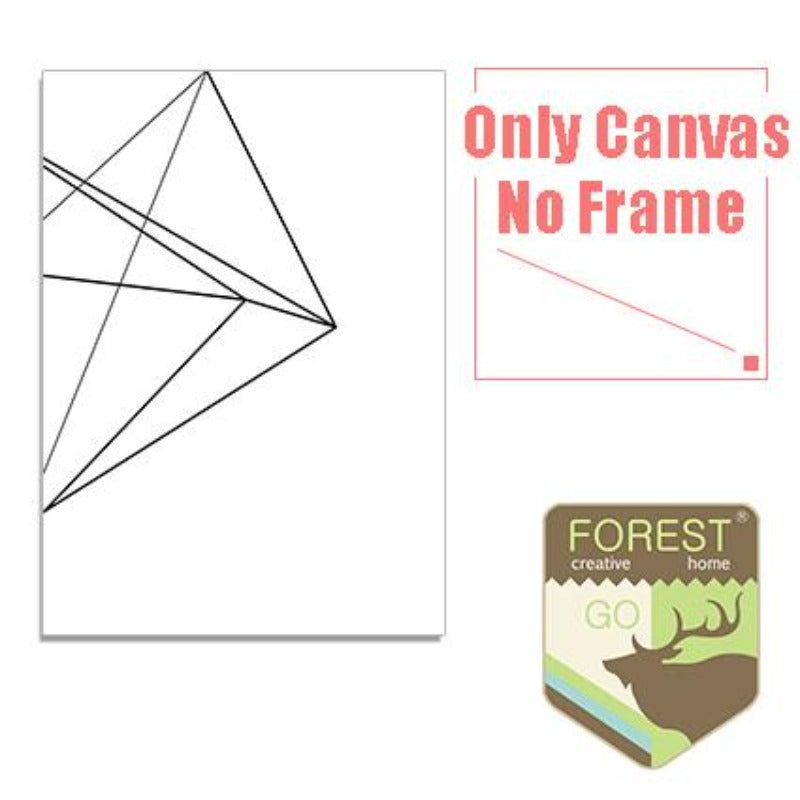 Geometric Abstract Wall Picture Canvas Painting