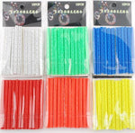 12 Piece: Bicycle Rim Spoke Warning Reflector Light Strip Clips