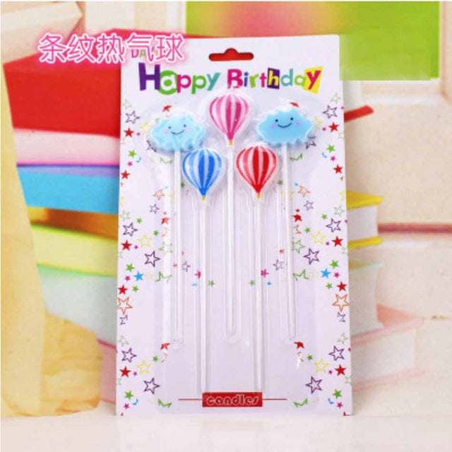New Baby Years Old Big 1 Digital Candle Blue Pink Smoke Free Candle Cake Decoration
