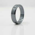 Fashion Jewelry Grade AAA Quality smooth 6 mm Width Flat Hematite Rings (1 Piece ) HR1002