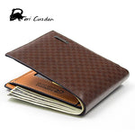 DERI CUZDAN New Brown Plaid Men Wallets Leather Famous Brand Men's Wallet Male Short Purse Small Bags Walet Portfolio Men