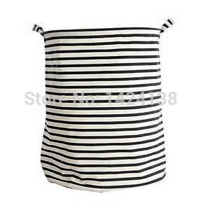 big size black and white stripe laundry basket ,easy cleaning and folded ,three colors for your choosing