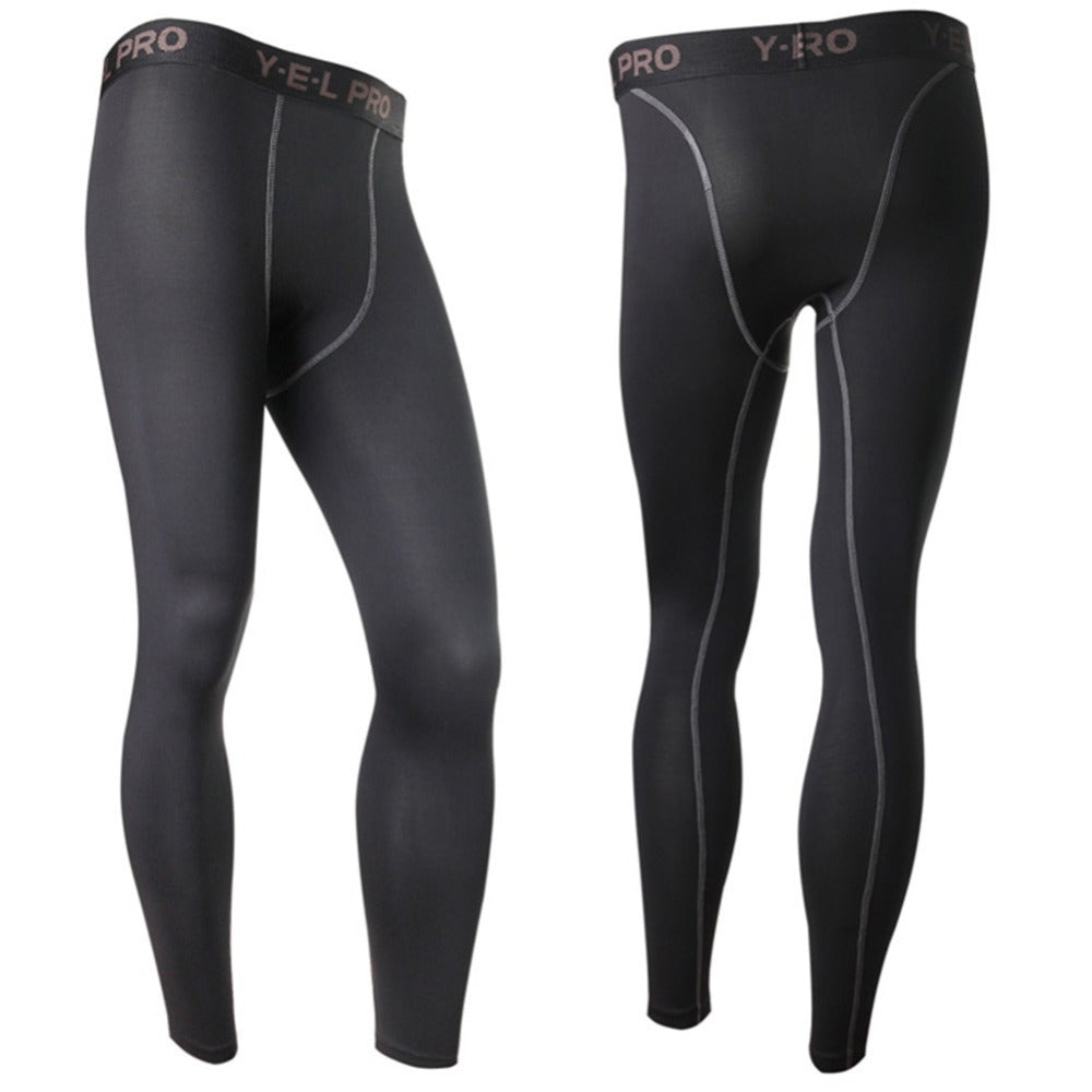 Men Compression Base Layer Pants Tight Long Leggings Under Skin Gear