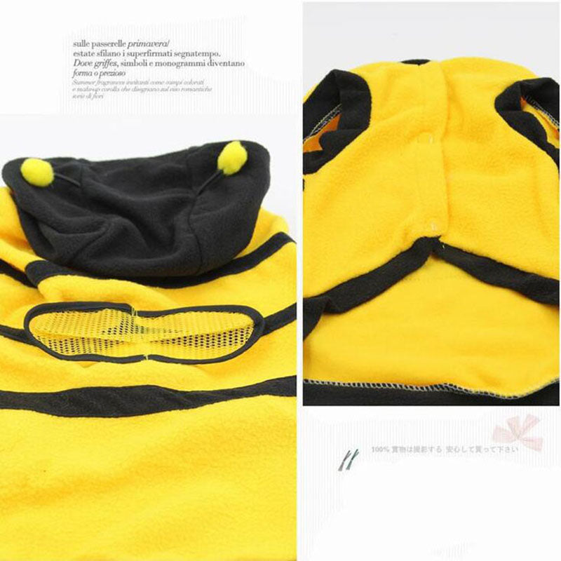 Cute Cat Soft Fleece Bee Costume