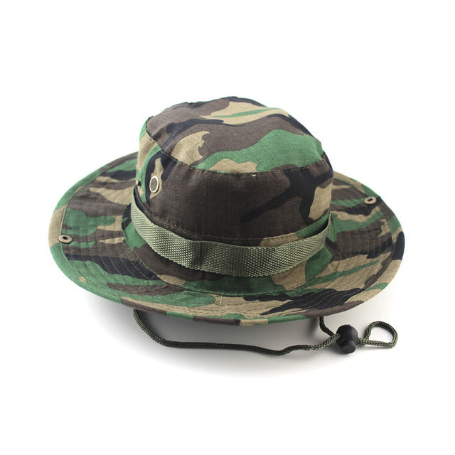 bucket hats outdoor jungle military camouflage bob camo bonnie hat fishing camping barbecue cotton mountain climbing hat