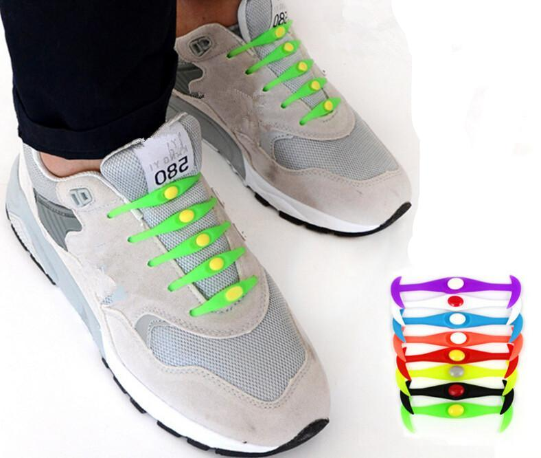 Convenient Lock Colorful Elastic No Tie Silicone Shoelaces Shoe Laces