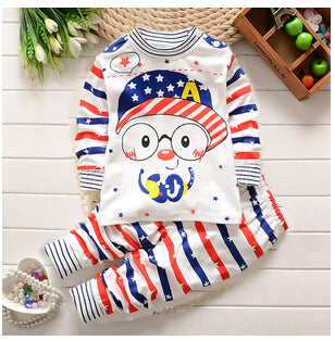 BibiCola boys Clothing Sets  Kids Pajamas Long johns Baby Boy Girl Cartoon Underwear Clothes toddler tracksuit clothes