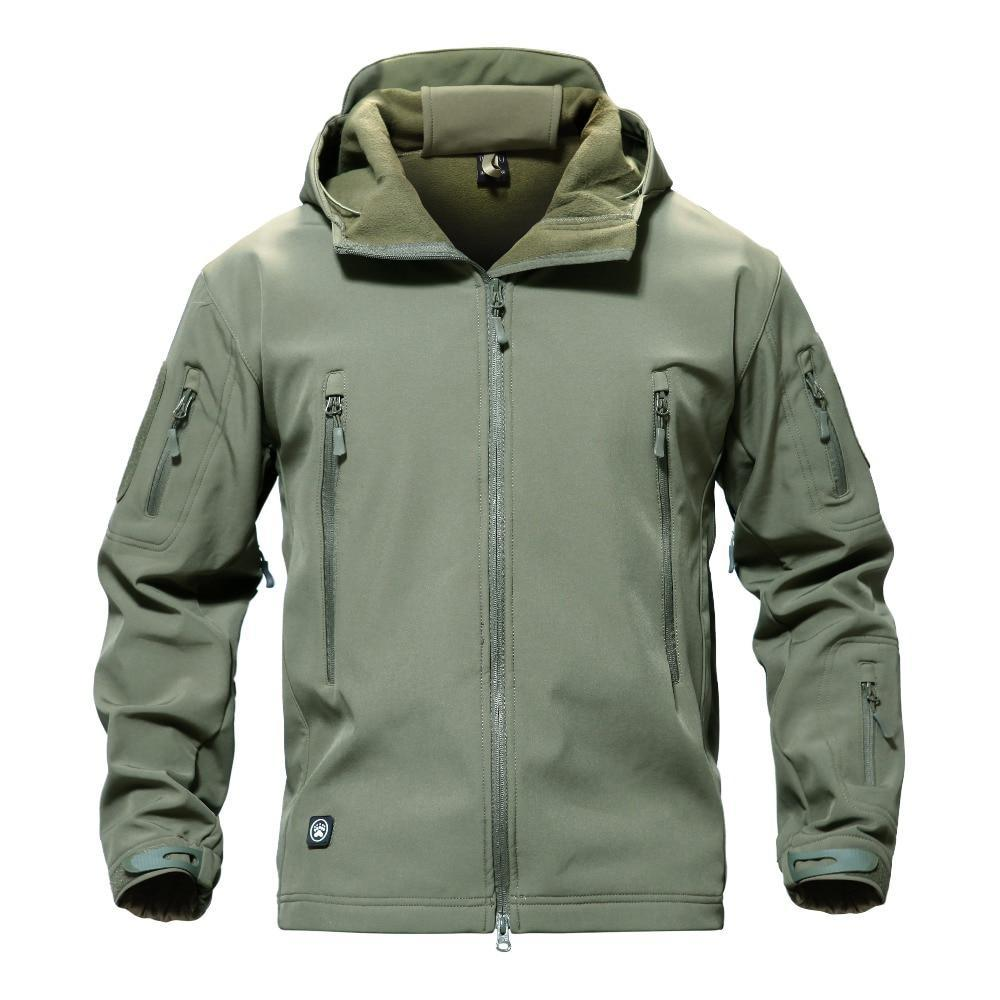 Men's Tactical Softshell Military Hooded Jacket