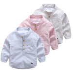 Striped Shirt Spring  Boy Children's Clothing Casual Button Long-sleeved Cool Kids Baby Boy Shirt