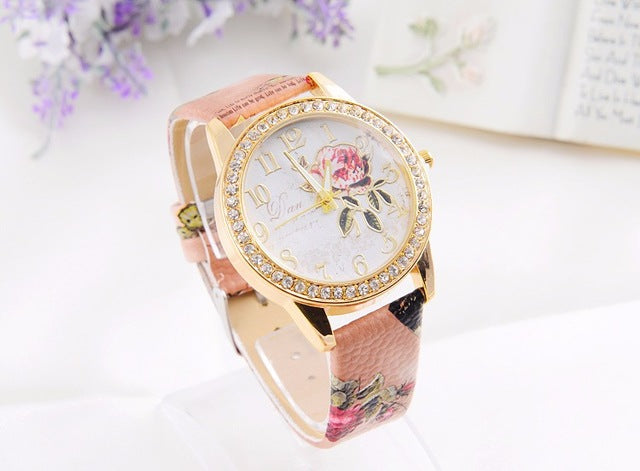 The rose series PINBO women luxury brand quartz