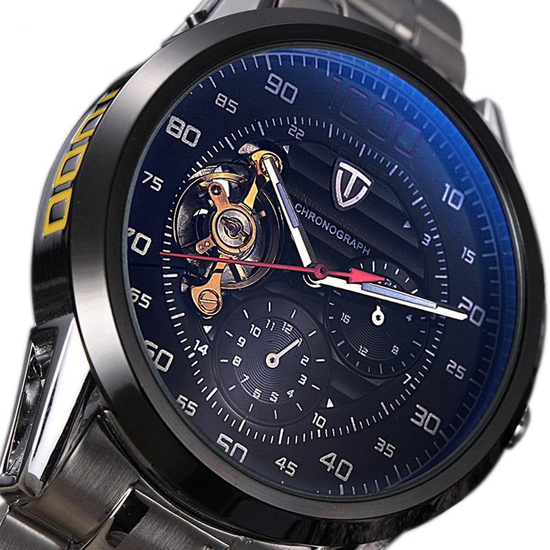 4f38d37901a mens watches top brand luxury TEVISE Automatic Winding Tourbillon Mechanical  Watch Sport Military Relogio Automatico Masculino
