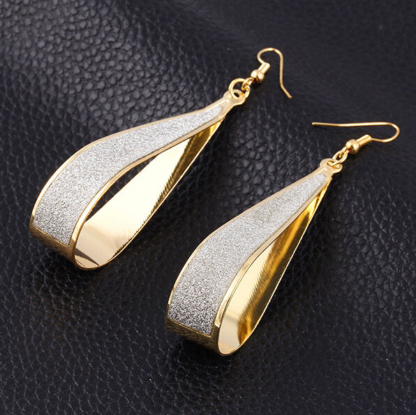 Women's Elegant Dangle Sparkle Water Drop Earrings