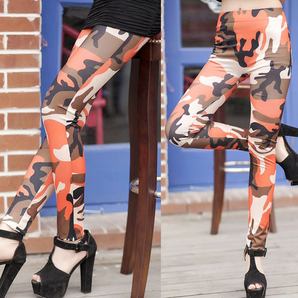 Newest Women Camouflage Army Print Stretch Cool Sexy Pants Skinny Leggings Trousers