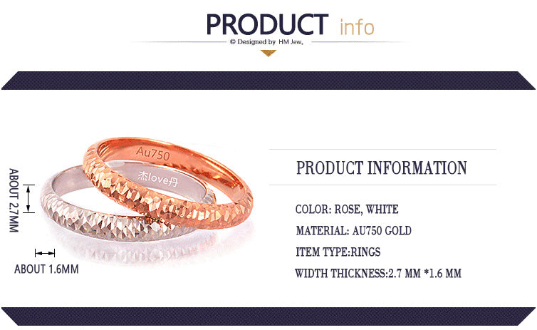 Unisex 18k Pure Gold Ring