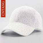 Women's Summer Lace Mesh Snapback Baseball Cap