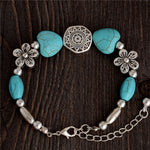 Fashion jewelry Bohemia stylish nice flower Natural Stone Beads charming Bracelet Handmade Accessories