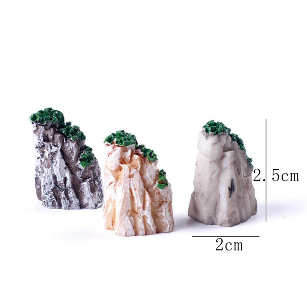 5 Pack: Decorative Mini Mountain Bonsai Garden Ornaments