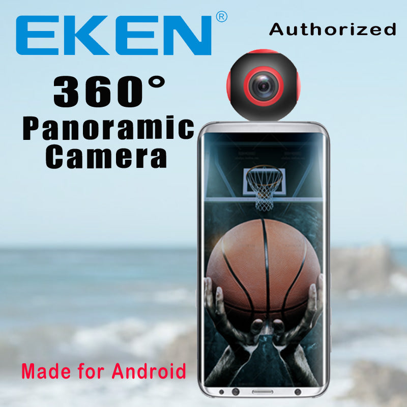 EKEN Newest Arrival 360 Camera VR Camera 1920*960 Ultra HD Mini Panorama 360 Degree video Cam For Andriod Smartphone