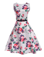 New Brand Spring Summer Dress Women Clothing Vintage Floral Printed Dress Plus Size Maxi Dresses Big Swing Party Vestidos
