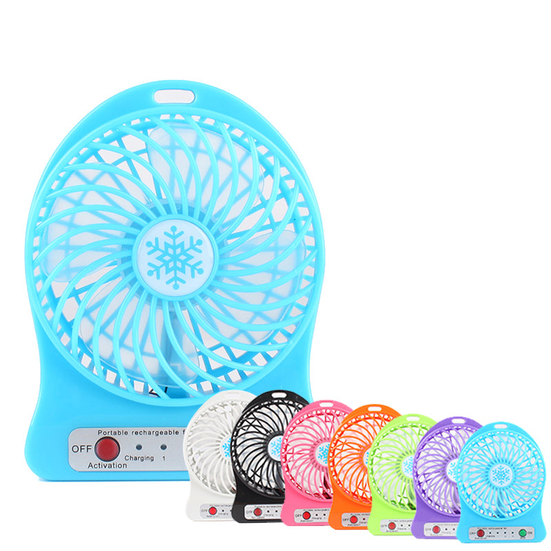 Portable Mini USB Fan Small Desk Pocket Handheld Air Rechargeable