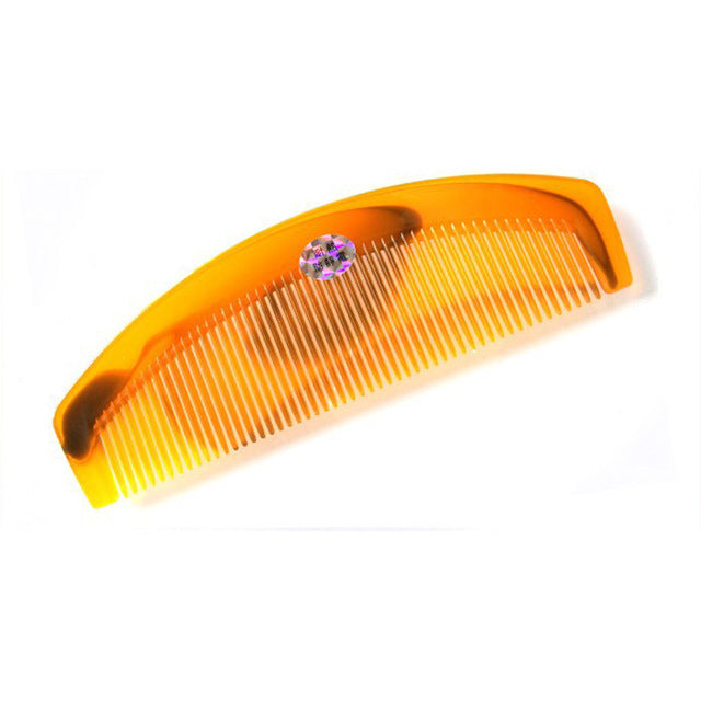 Natural Amber Ox Horn Comb Of Hair No Static Health Care Hair Brush Hairdressing Comb For Hair Tools P20