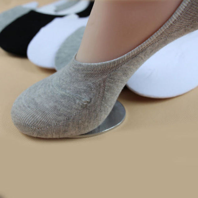 Unisex 1 Pair Men Women Low Cut Ankle Socks Casual Soft Cotton sock Loafer Boat Non-Slip Invisible No Show Socks 3 Colors