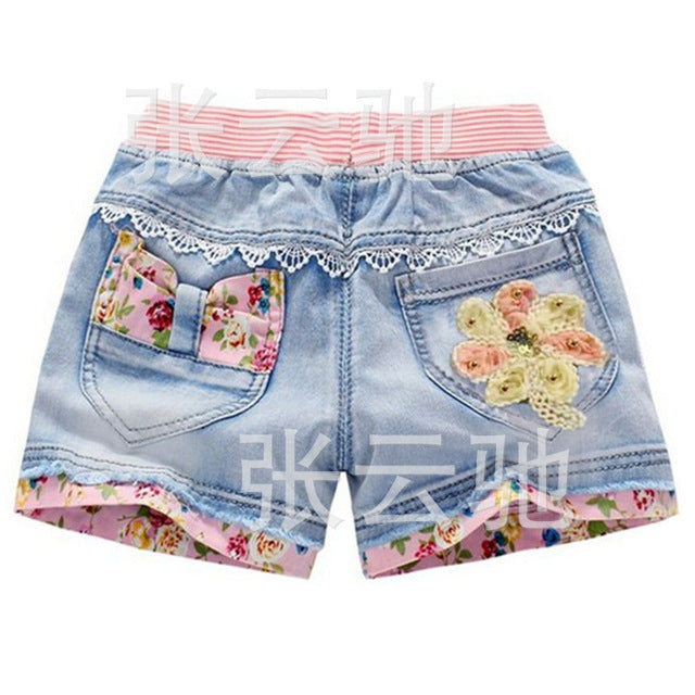 Children | Fashion | Diamond | Summer | Cotton | Casual | Denim | Short | Jean | Girl | Kid