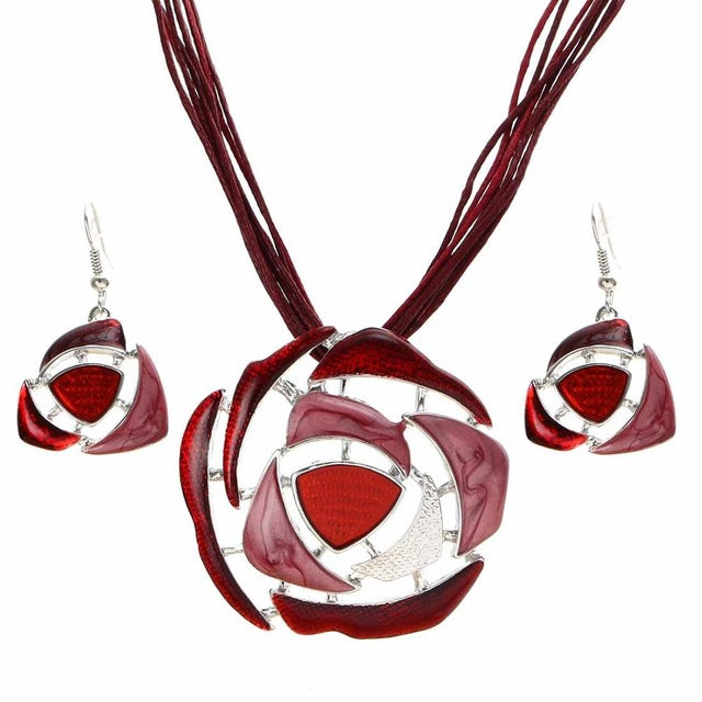 Necklace | Wedding | Fashion | Jewelry | Crystal | Leather | Earring | Pendant | Bridal | Chain | Women | Rope | Gift | Set