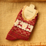 5 Pack: Women's Vintage Rabbit Wool Knit Winter Socks