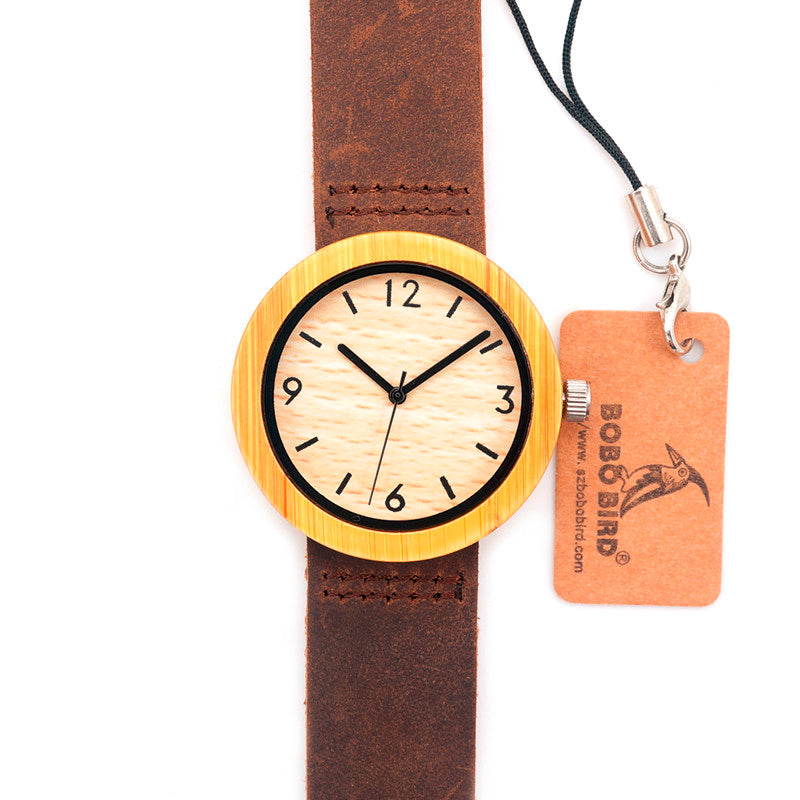 BOBO BIRD Brand Wood Watch Women's Watches Bamboo Wood Wristwatch Female Clock Lady Quartz-watch relogio feminino  C-D18-2