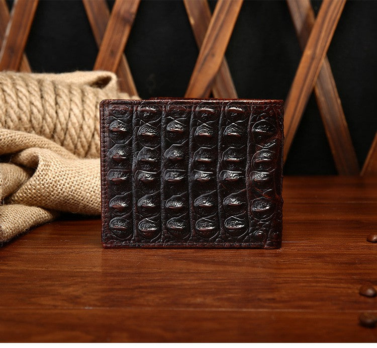 Men's Vintage Crocodile Fashioned Leather Wallet