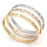 New Classic Design High Quality 4mm And 6mm Zircon Roman Numerals Bracelets & Bangles Women Fashion Jewelry Bangles