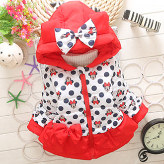 New Baby Girls Minnie Jacket Kids Cotton Keeping Warm Winter Coat Chirdren Character Lovely Hoodies Outerwear And Girl's Vest