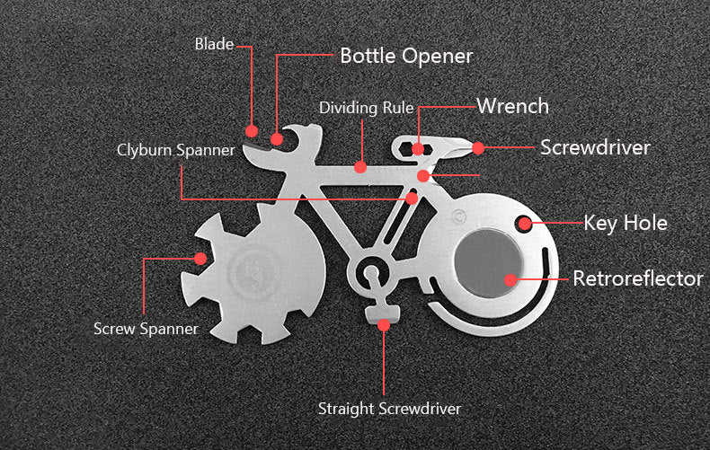 Multi-Function Titanium-Plated Outdoor Survival Keychain Tool