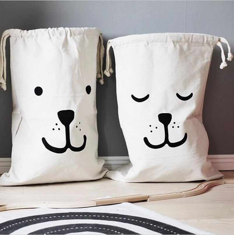 Extra Large Cotton Canvas Print Laundry Bag