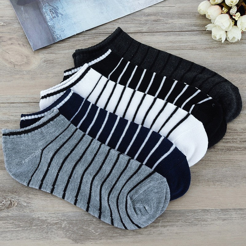 Stripe Men Summer Sock 5 Pairs /lot Package Male Light Socks Cotton