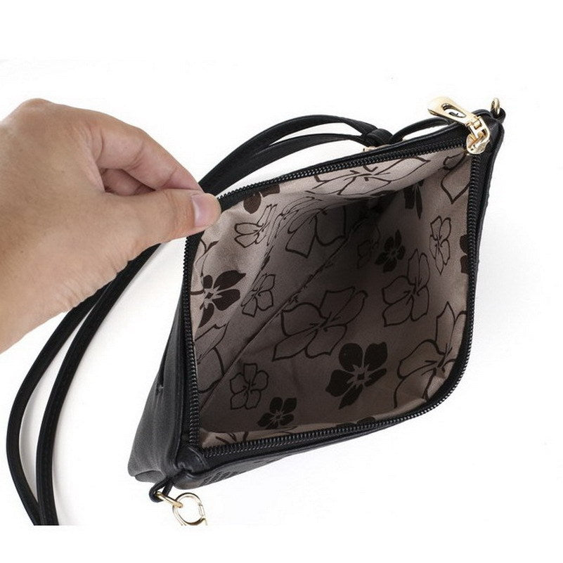 Vintage Hollow Out Flower Envelope Bag Small Women Leather Crossbody bag Shoulder bag Messenger bag Clutch Handbag Purses