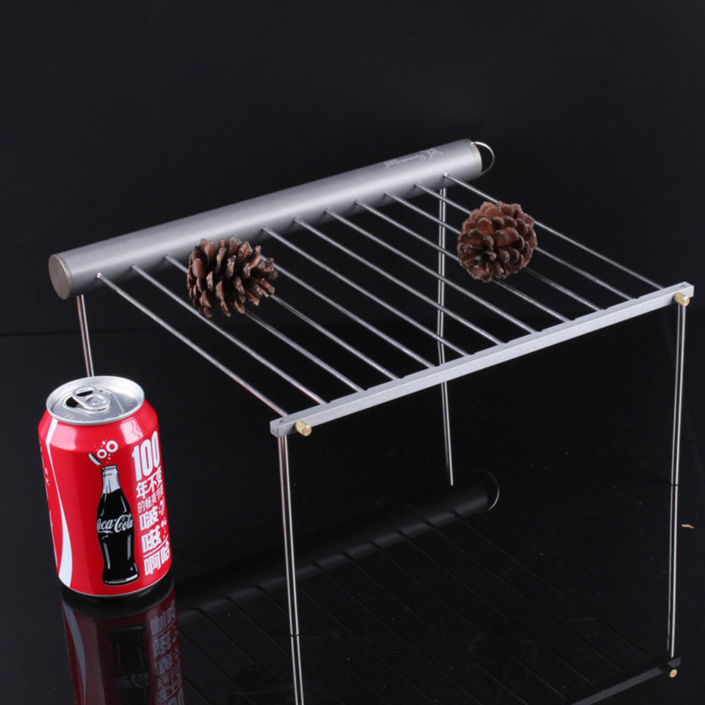 BBQ Grill Outdoor Camping Hiking Picnic Barbecue Protable Stainless Steel Cooking Accessories Camping Gear