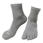 10 Pairs of Men's Fashion Spring Winter Style Five Finger Socks