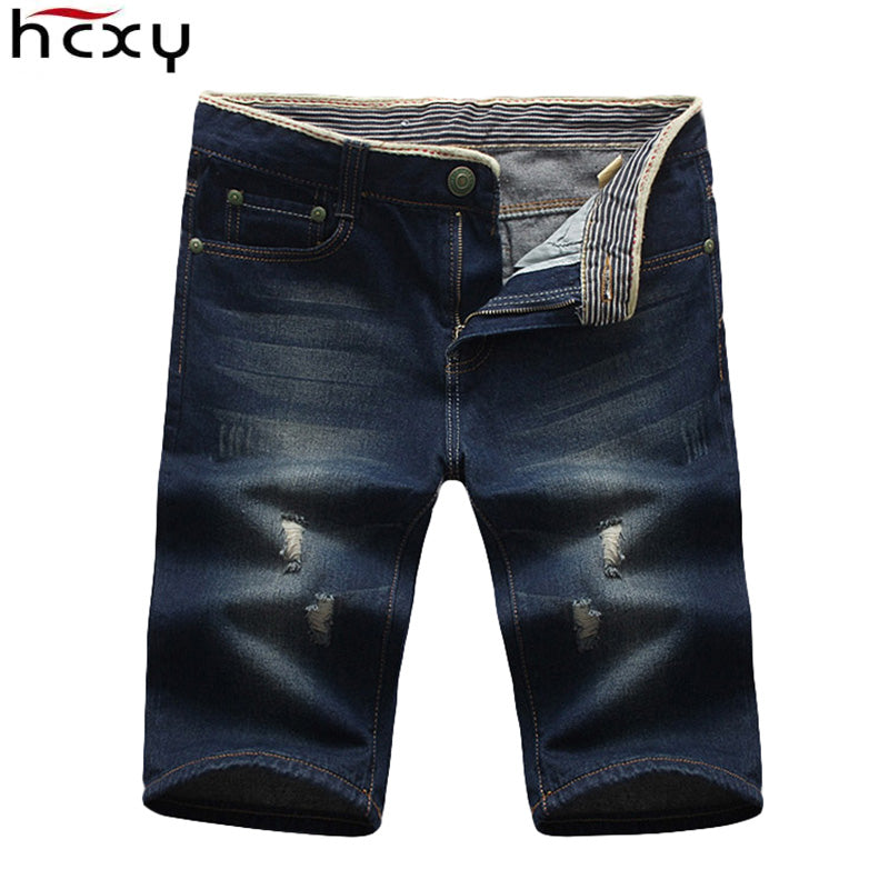 Mens Shorts New Summer Brand Regular cotton Casual Male Short Masculina Hole Jeans Shorts For Men