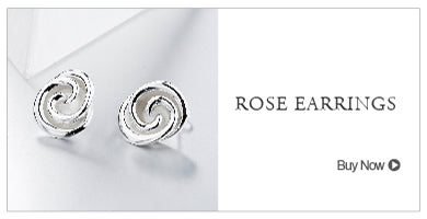 SA SILVERAGE Real 925 Sterling Silver Rose Wedding Rings Flower Fine Jewelry 925 Sterling-Silver-Jewelry Ring for women