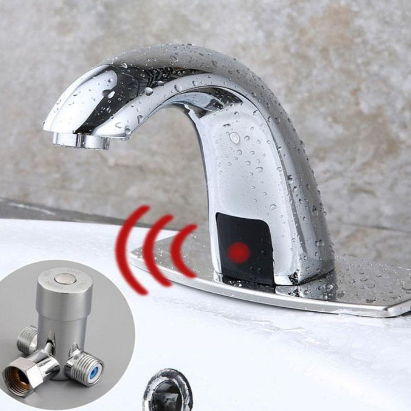Hot & Cold Bathroom Automatic Touch Free Sensor Faucet