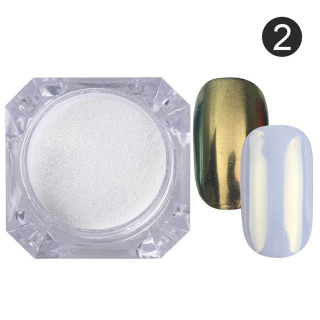 Mirror Powder Nail Glitter Manicure Set
