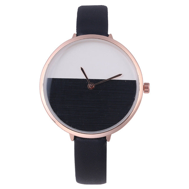 New Design Two Color Wooden Style Simple Dial Watch Women Elegant Thin Strap Fashion Any match Casual Lady Wristwatch hours