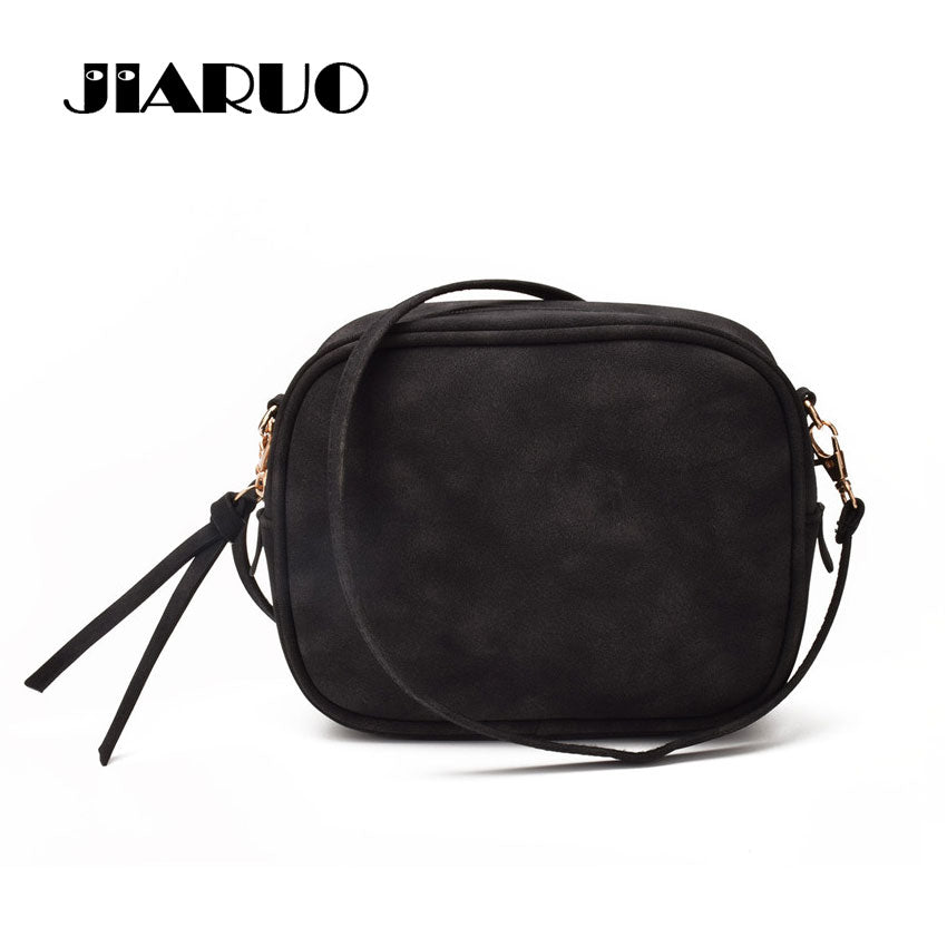 JIARUO Daily Mini Leather Flap Women Messenger Bag Small Shoulder Bag Lady Handbag purse Crossbody Cross Body Bag For Travel