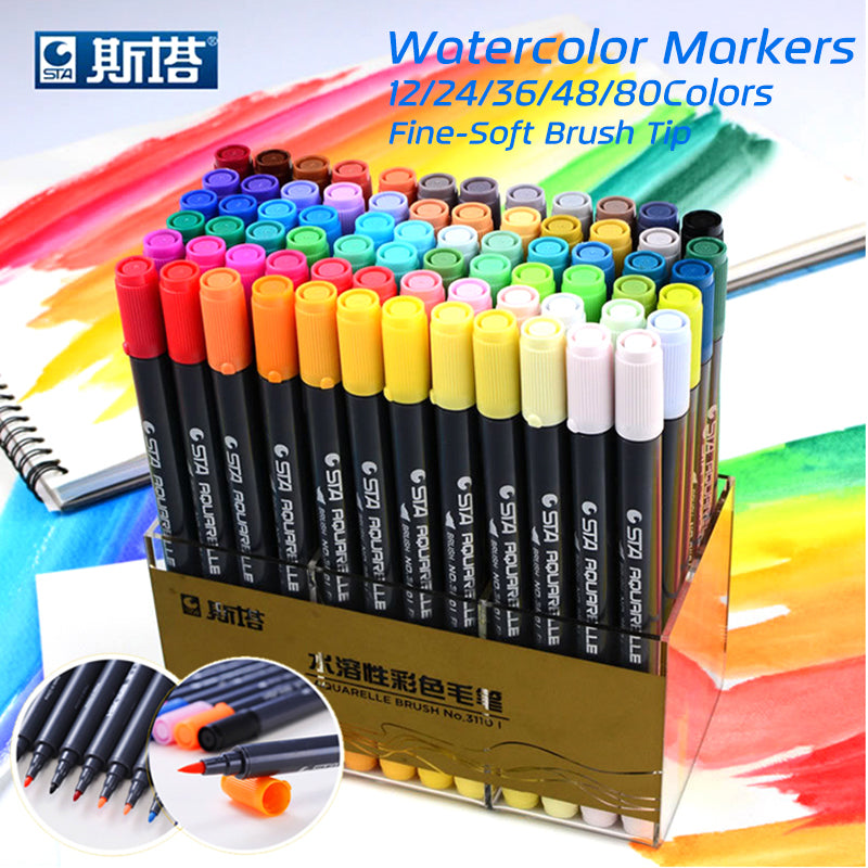 80nColors Set Water Based Ink Sketch Marker Pens