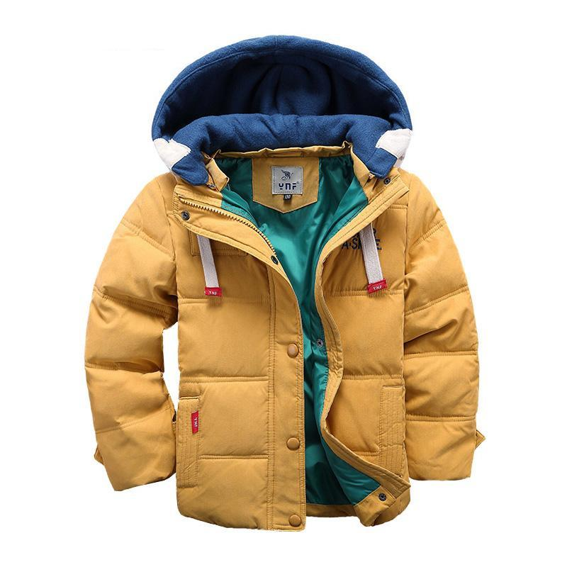 Children's 4-10T Outerwear Warm Hooded Parka